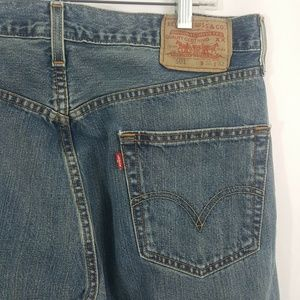 Levis 501 Blue Jeans Button Fly Denim Mexico Made